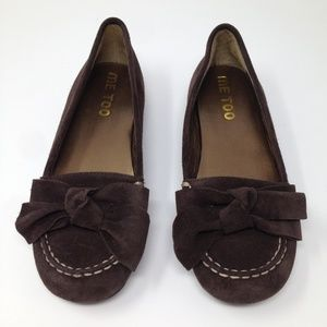 Me Too Brown Suede Slip-On Women Loafer 6M Shoes